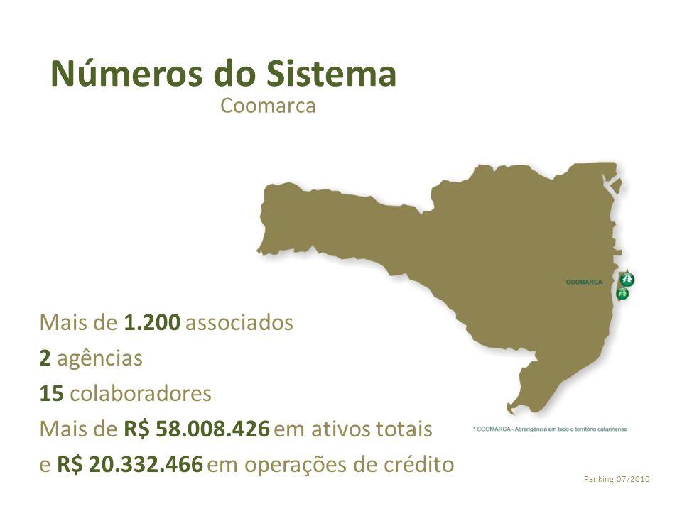 Números do Sistema Mais de 1.200 associados 2 agências