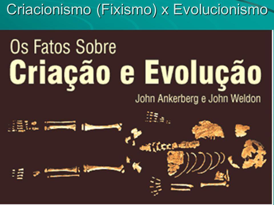 Criacionismo (Fixismo) x Evolucionismo