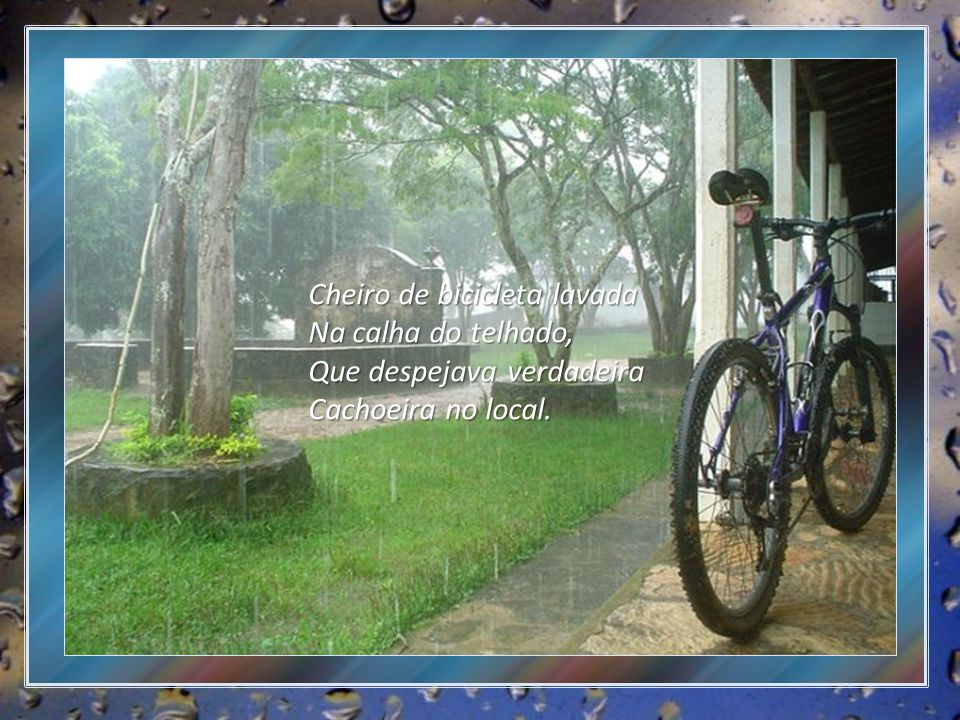 Cheiro de bicicleta lavada