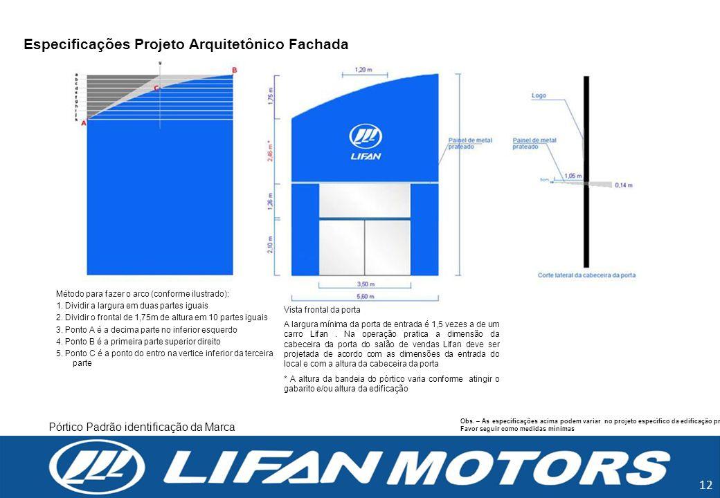 Especificações Projeto Arquitetônico Fachada