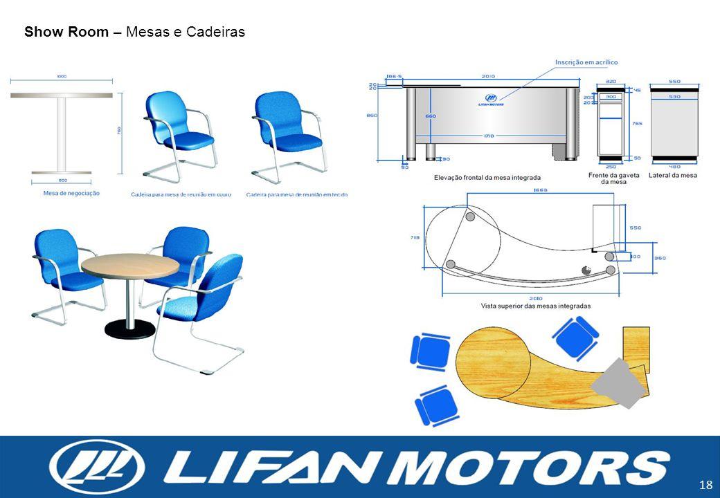 Show Room – Mesas e Cadeiras