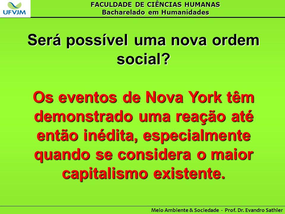 Será possível uma nova ordem social