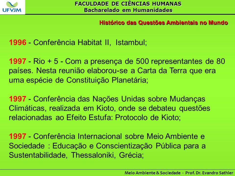 1996 - Conferência Habitat II, Istambul;