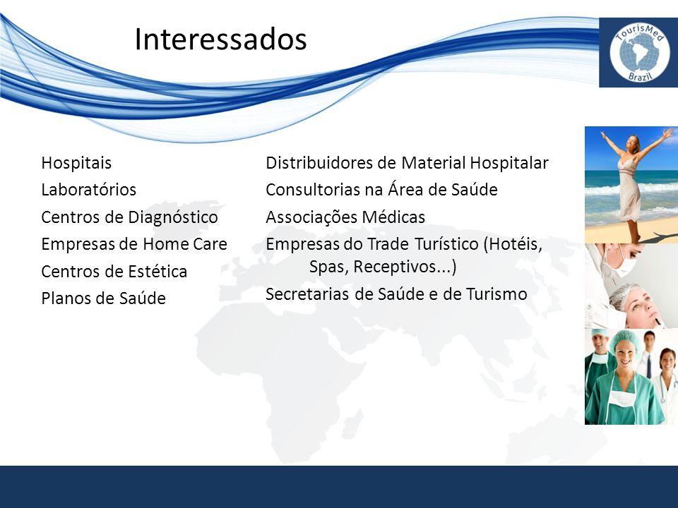 Interessados Hospitais Laboratórios Centros de Diagnóstico Empresas de Home Care Centros de Estética Planos de Saúde