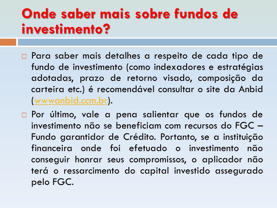 Onde saber mais sobre fundos de investimento