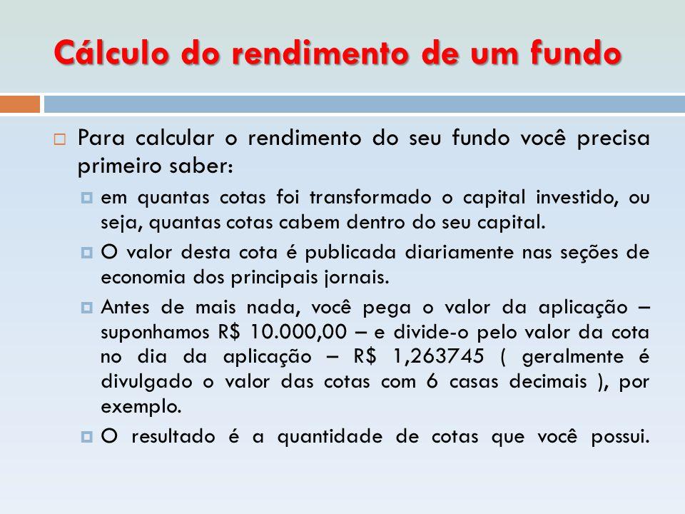 Cálculo do rendimento de um fundo