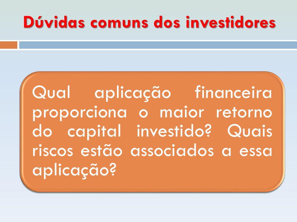 Dúvidas comuns dos investidores