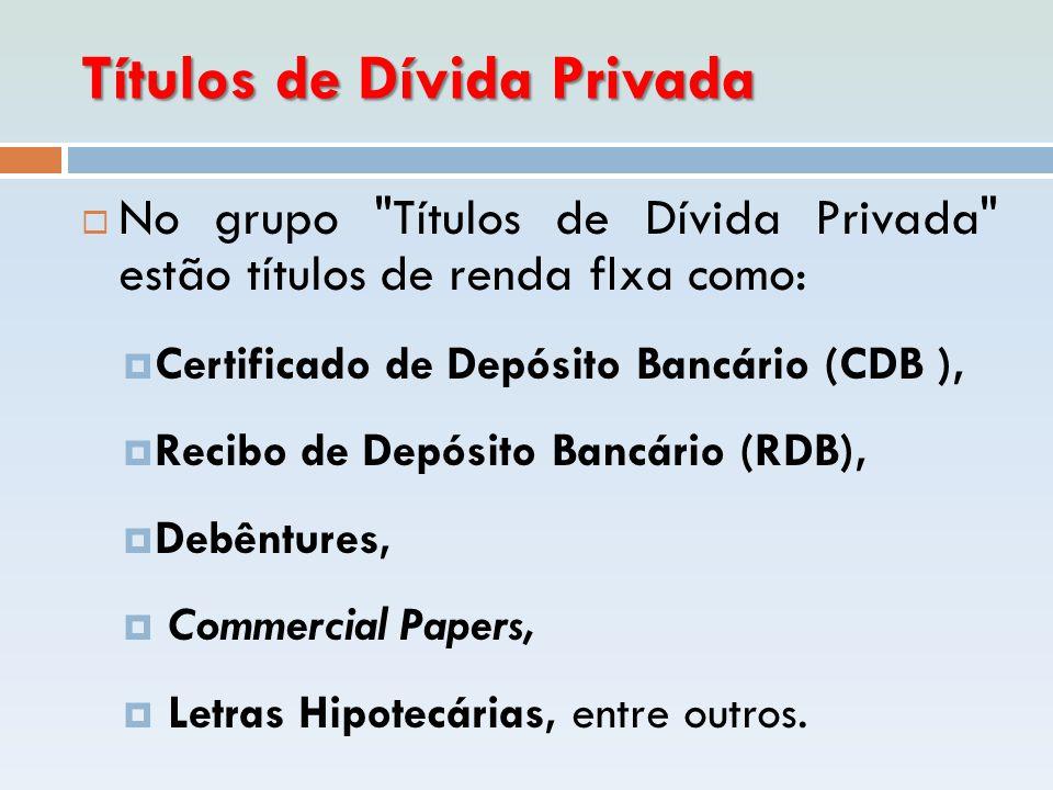 Títulos de Dívida Privada