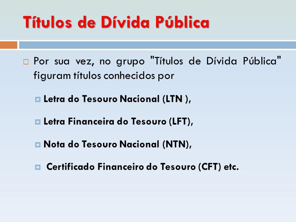 Títulos de Dívida Pública