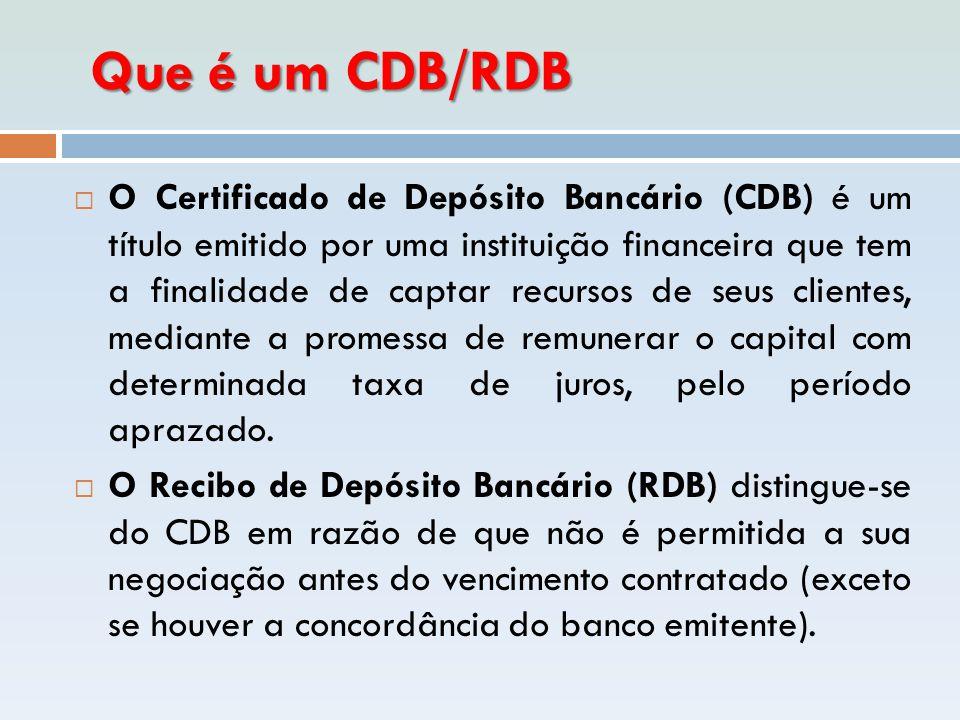 Que é um CDB/RDB