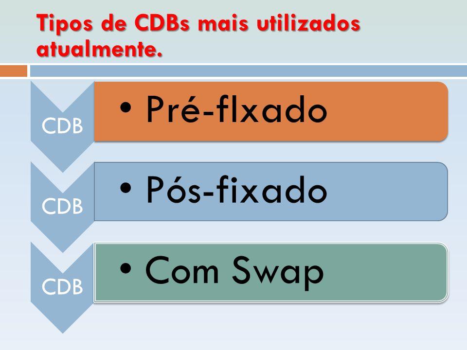 Tipos de CDBs mais utilizados atualmente.
