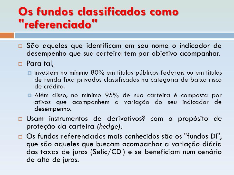 Os fundos classificados como referenciado