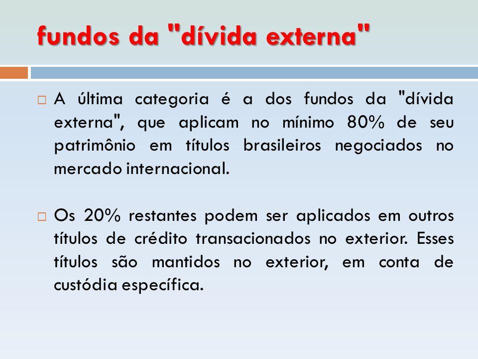 fundos da dívida externa