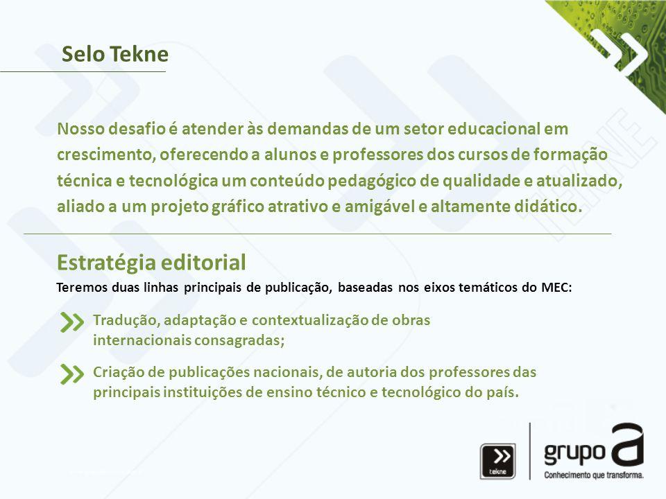 Selo Tekne Estratégia editorial