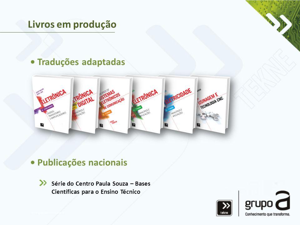 Livros em produção • Traduções adaptadas • Publicações nacionais