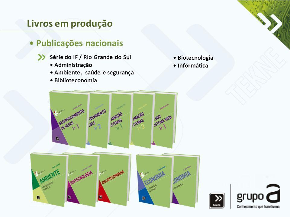 Livros em produção • Publicações nacionais
