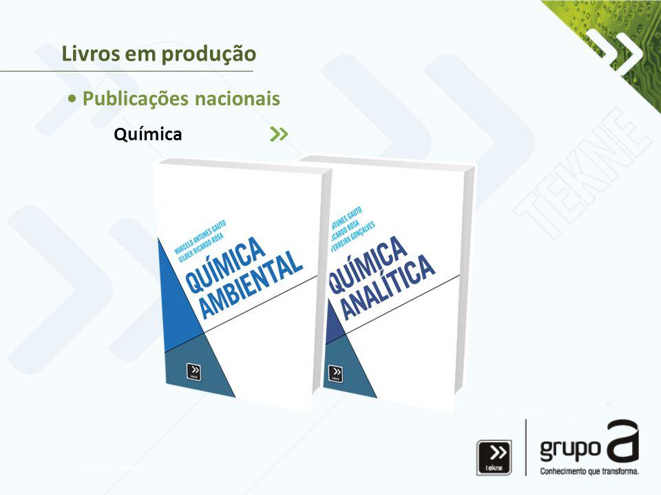 Livros em produção • Publicações nacionais Química