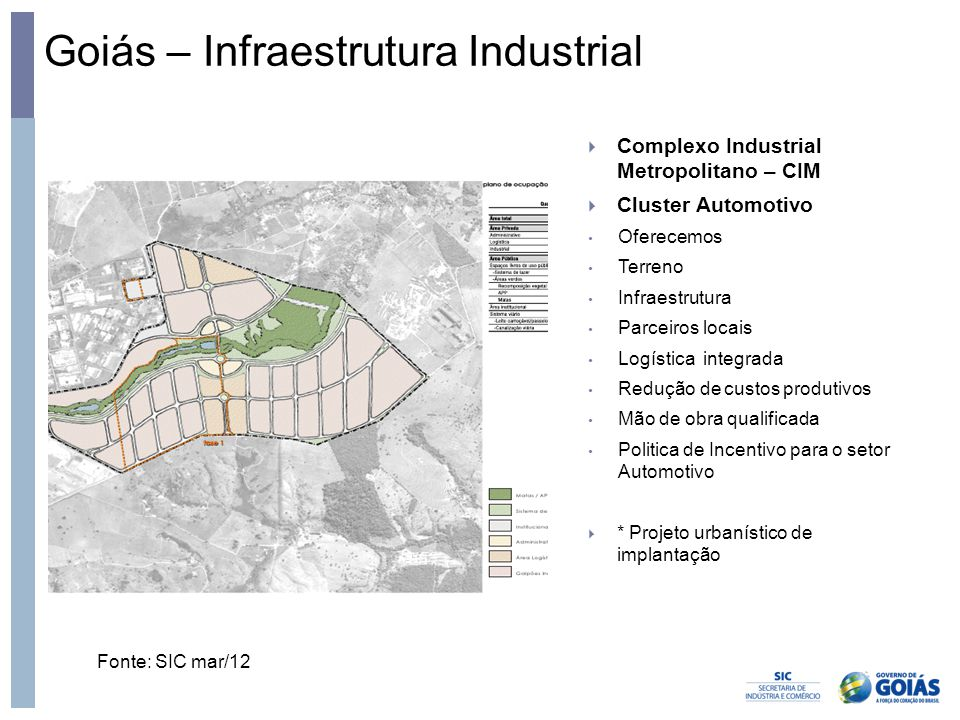 Goiás – Infraestrutura Industrial