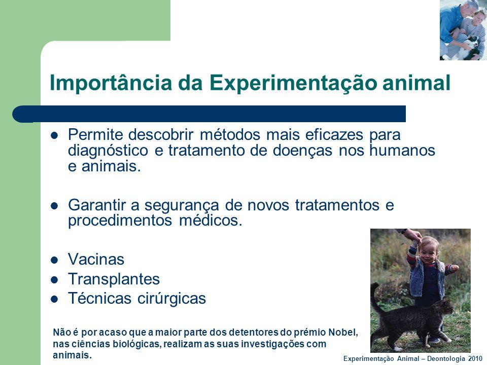Importância da Experimentação animal