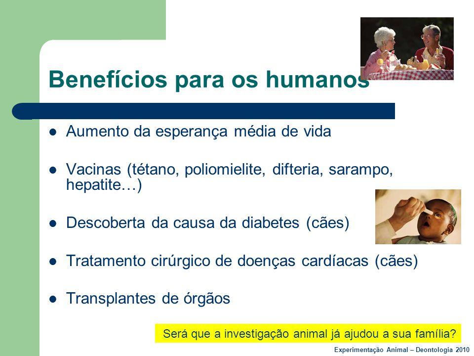 Benefícios para os humanos