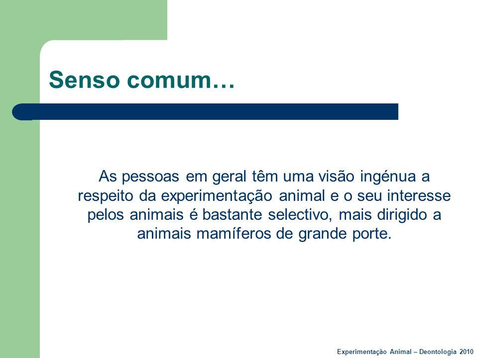 Senso comum…