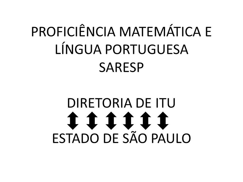 PROFICIÊNCIA MATEMÁTICA E LÍNGUA PORTUGUESA SARESP DIRETORIA DE ITU ESTADO DE SÃO PAULO
