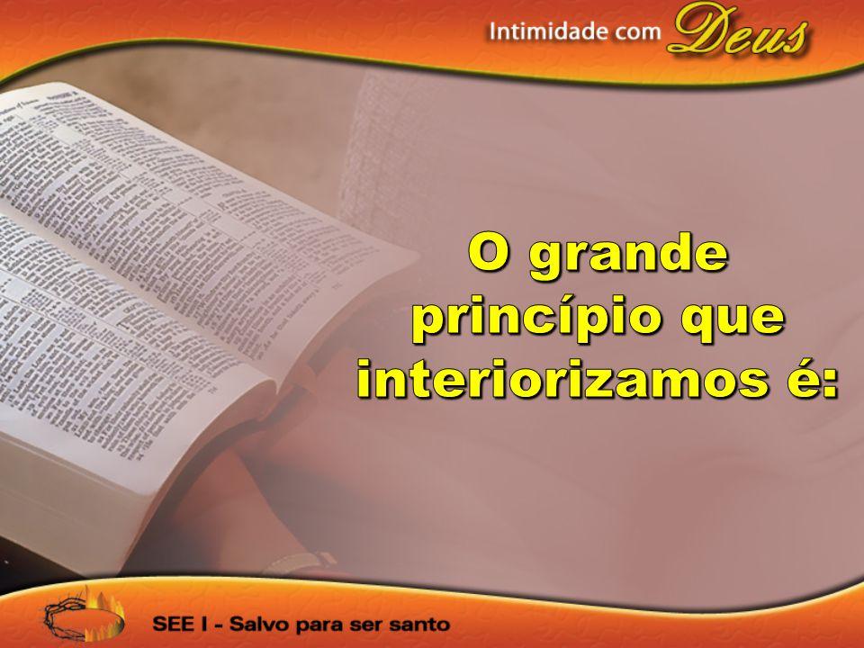 princípio que interiorizamos é: