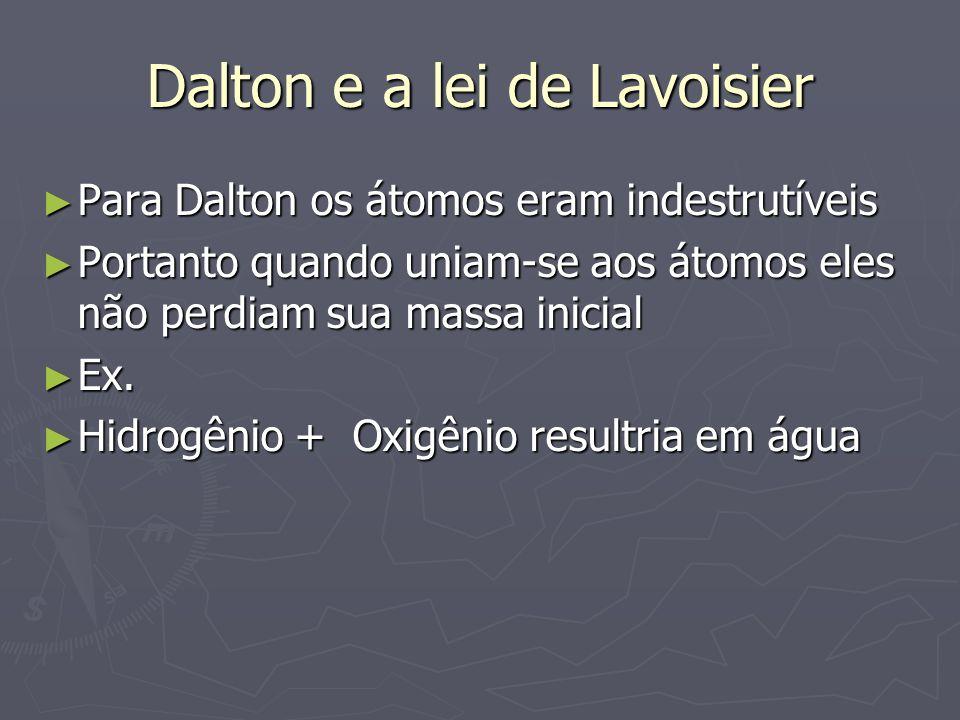 Dalton e a lei de Lavoisier
