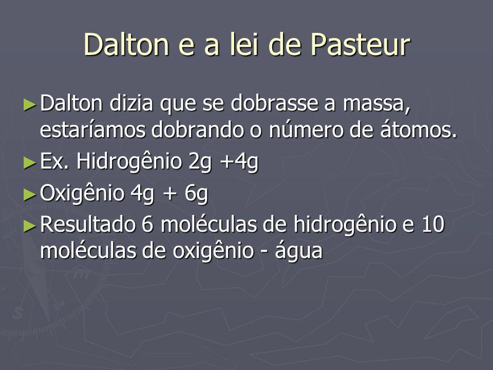 Dalton e a lei de Pasteur