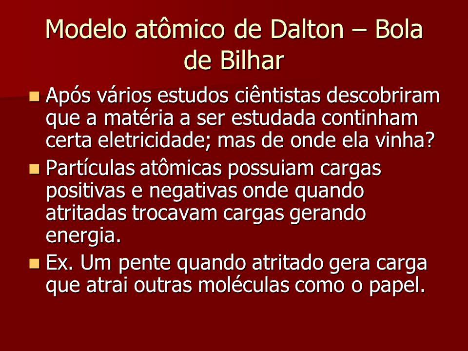 Modelo atômico de Dalton – Bola de Bilhar