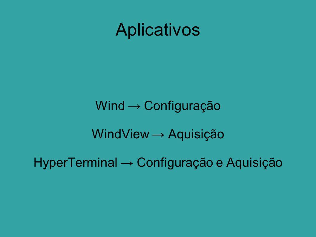 HyperTerminal → Configuração e Aquisição