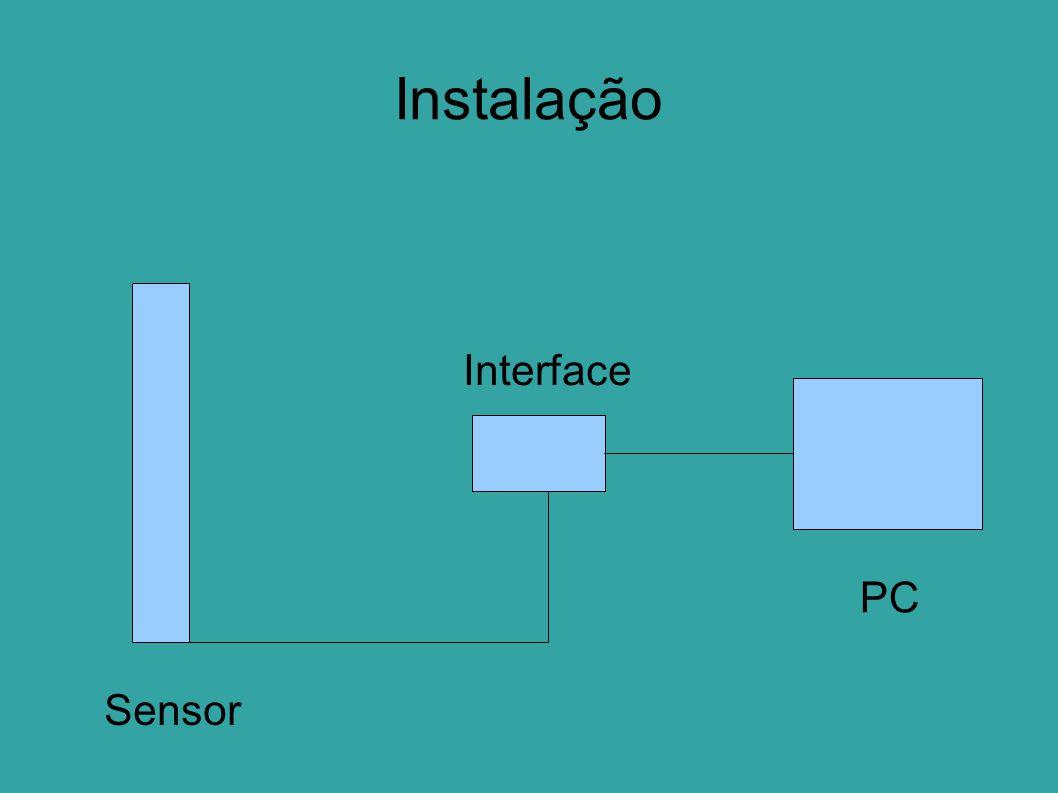 Instalação Interface PC Sensor