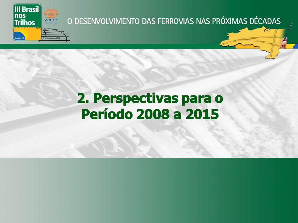 2. Perspectivas para o Período 2008 a 2015