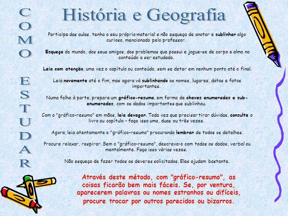 C O M E S T U D A R História e Geografia