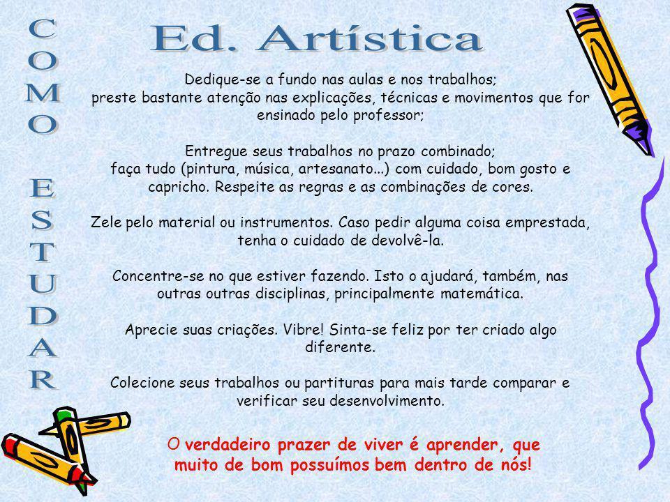 C Ed. Artística O M E S T U D A R