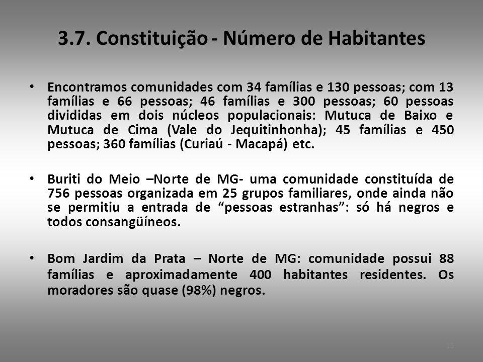 3.7. Constituição - Número de Habitantes