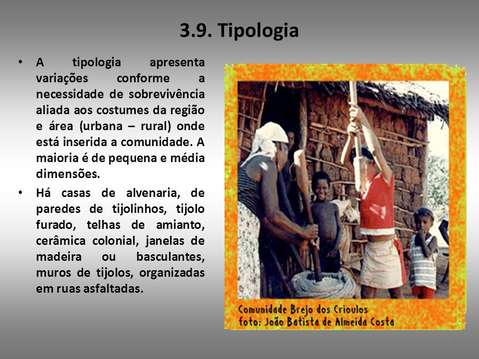 3.9. Tipologia