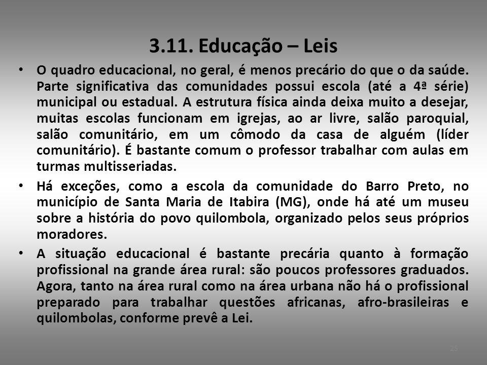 3.11. Educação – Leis