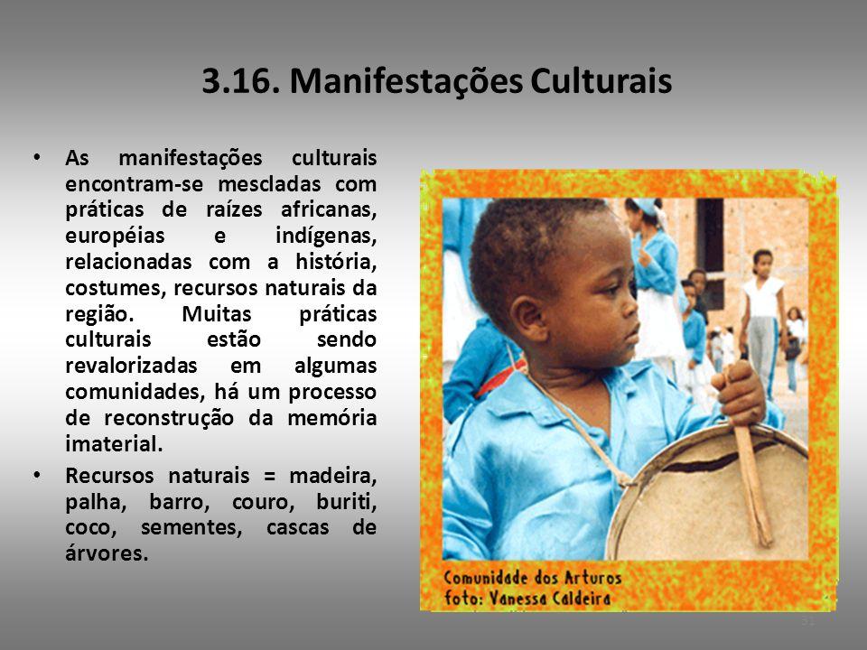 3.16. Manifestações Culturais