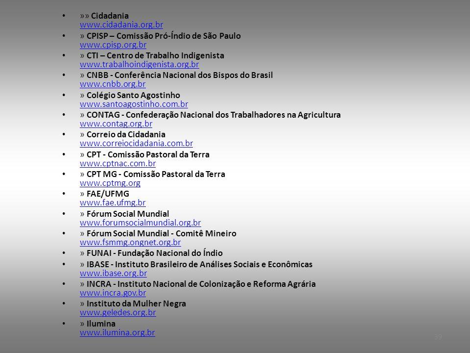 »» Cidadania www.cidadania.org.br