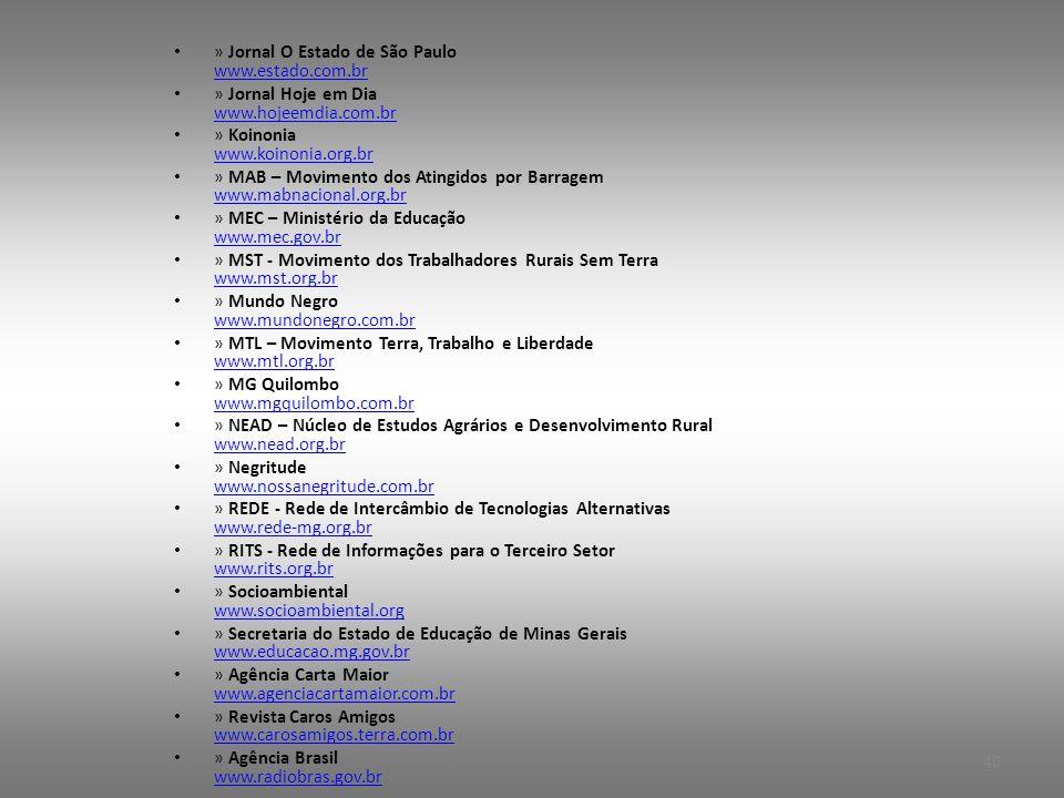 » Jornal O Estado de São Paulo www.estado.com.br