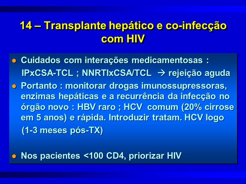 14 – Transplante hepático e co-infecção com HIV