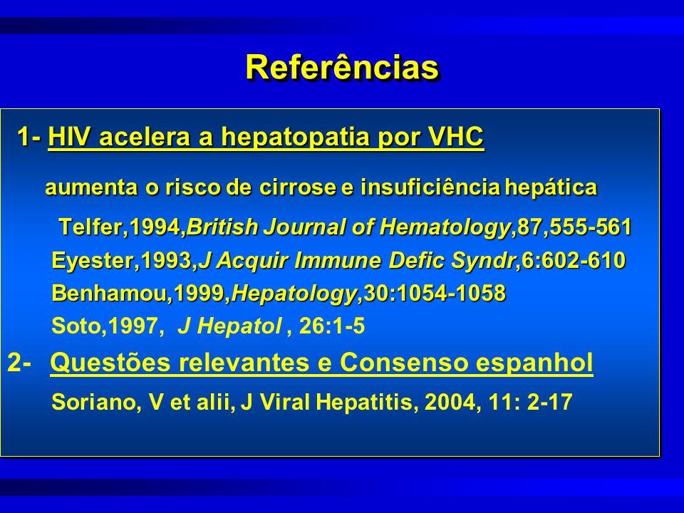 1- HIV acelera a hepatopatia por VHC