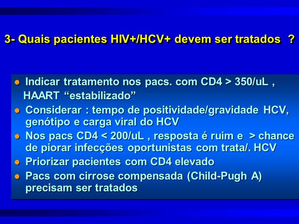 3- Quais pacientes HIV+/HCV+ devem ser tratados