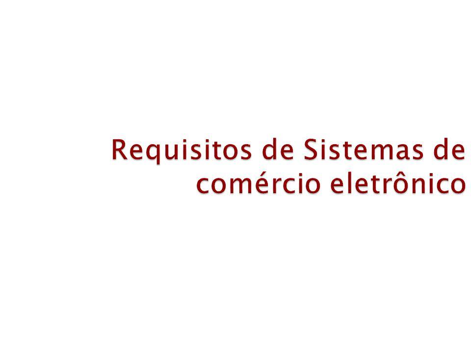 Requisitos de Sistemas de comércio eletrônico