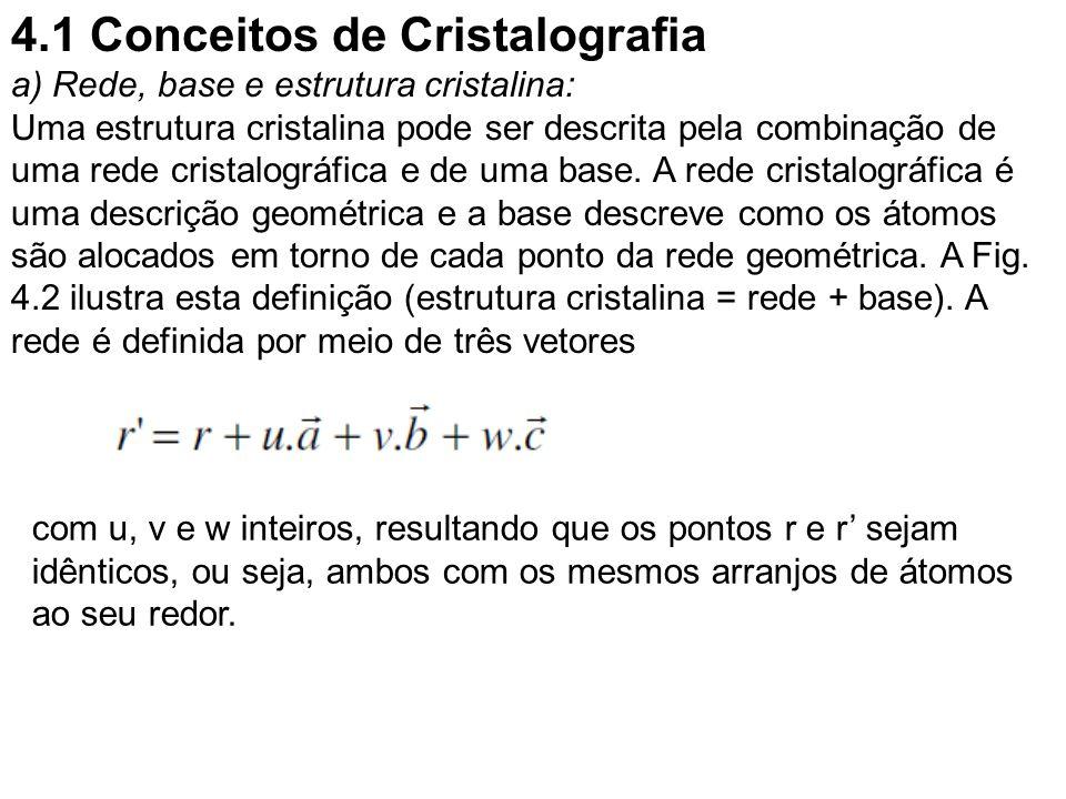 4.1 Conceitos de Cristalografia