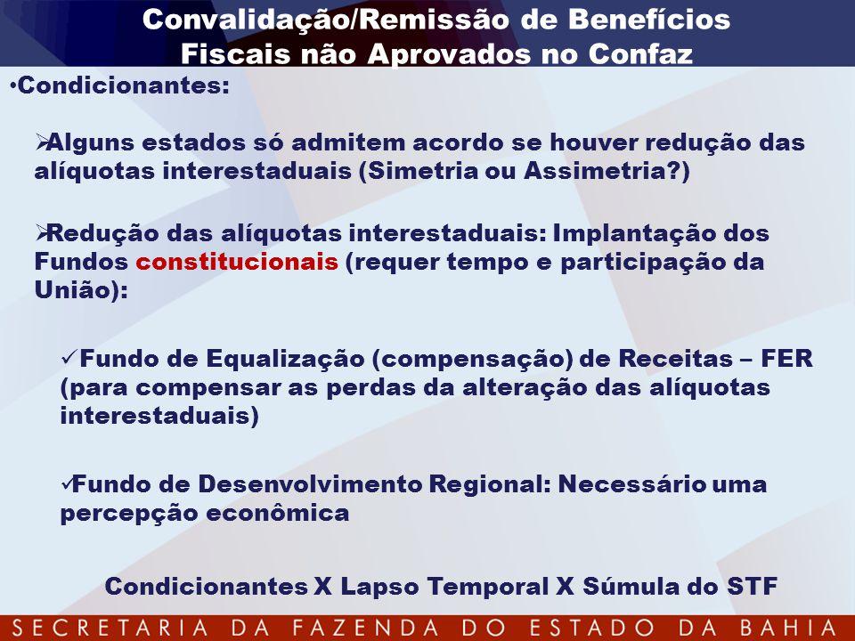 Convalidação/Remissão de Benefícios Fiscais não Aprovados no Confaz