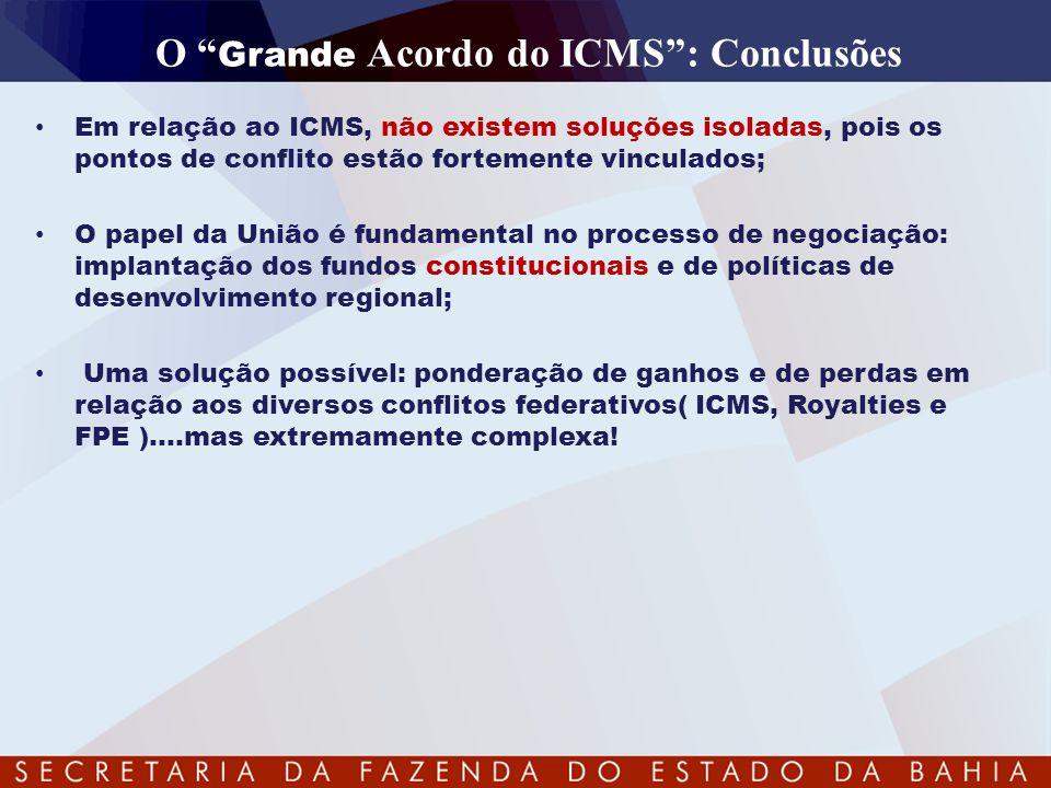 O Grande Acordo do ICMS : Conclusões