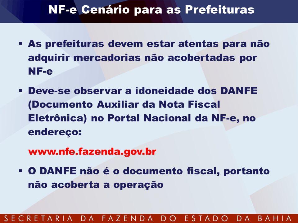NF-e Cenário para as Prefeituras