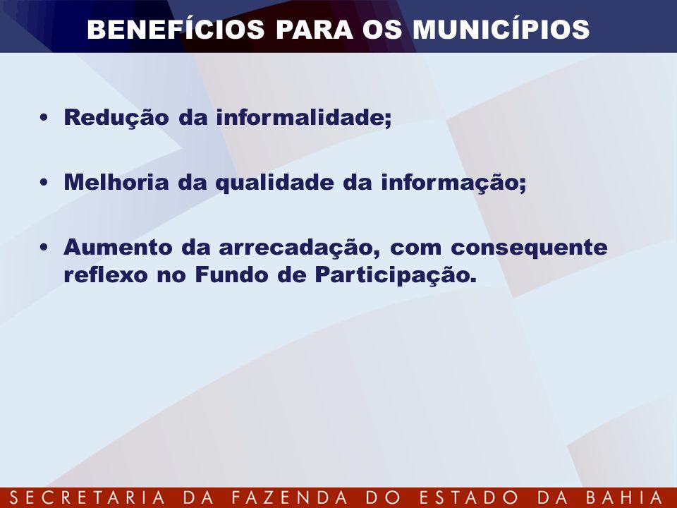 BENEFÍCIOS PARA OS MUNICÍPIOS